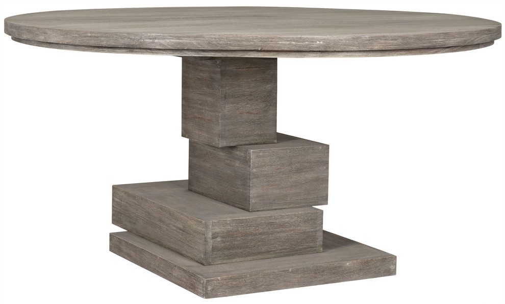 Noir Hancock Dining Table With Distressed Grey Finish Gtab528dgr Farmhouse Dining Tables By Gwg Outlet