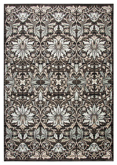 Rizzy Home Zenith Area Rug Black Taupe Beige Ivory Sage