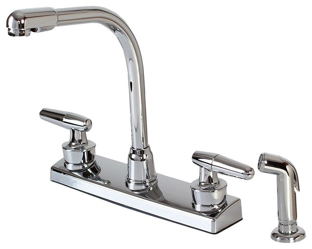 Hardware House 12 1927 2 Handle Hi Rise Kitchen Faucet With Spray
