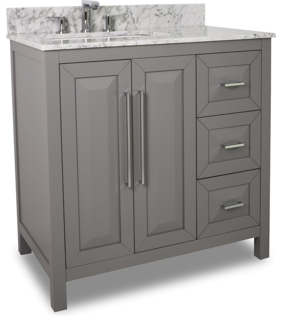 Jeffrey Alexander Cade Contempo Vanity With Top Gray 36 X36