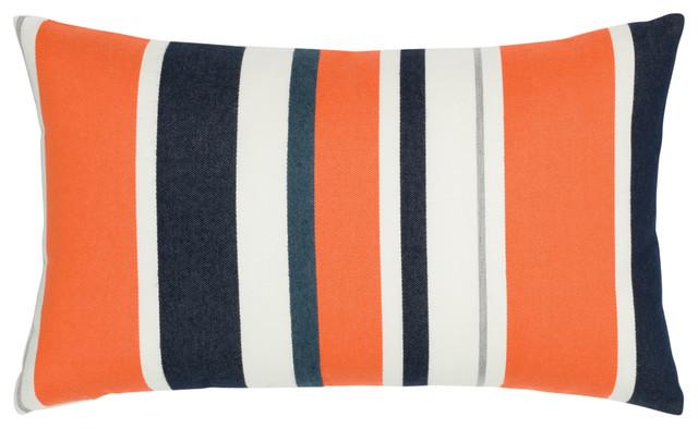 Modern Outdoor Lumbar Pillows : Elaine Smith Riviera Stripe Pillow - Outdoor Cushions And Pillows Houzz