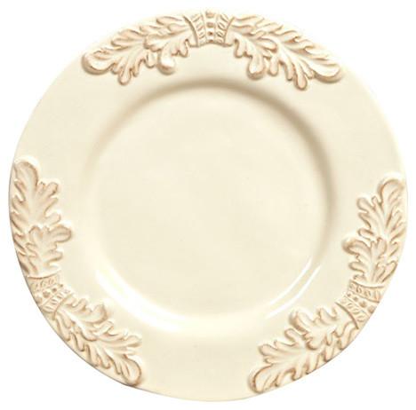 GG Collection Grazia Cream Ceramic Set Of 4 Dinner Plates  sc 1 st  Houzz & GG Collection Grazia Cream Ceramic Set Of 4 Dinner Plates ...