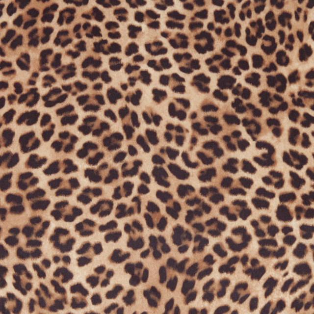 Brown Cheetah Print Microfiber Stain Resistant Upholstery