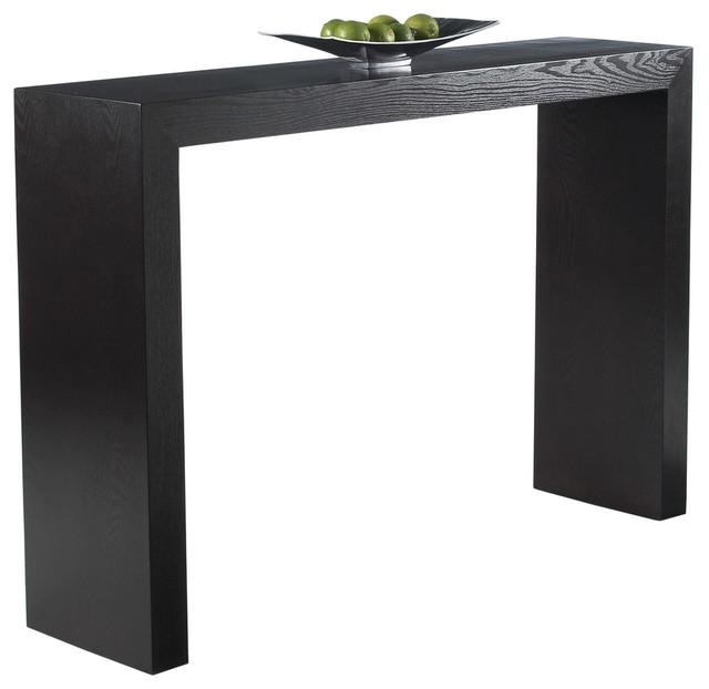 Black modern sofa table Mirror Houzz Arch Console Table Modern Console Tables By Sunpan Modern Home