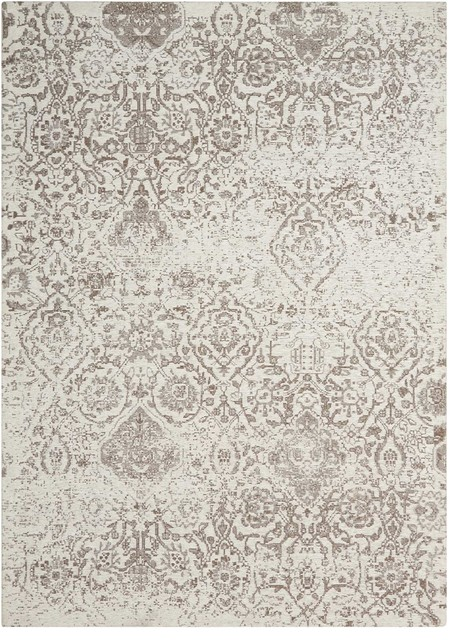 Nourison 8&x27;x10&x27; Damask Ivory Rectangle Area Rug.