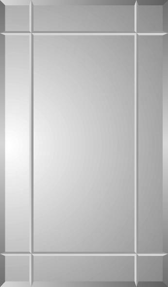 Vega Beveled Medicine Cabinet With 4 V -Grooves.