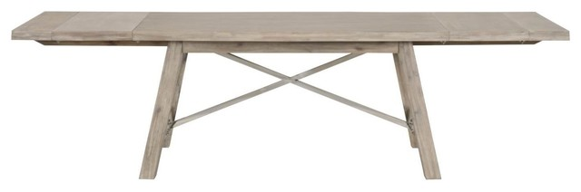 Orient Express Traditions Nixon Extension Dining Table In Natural Gray.