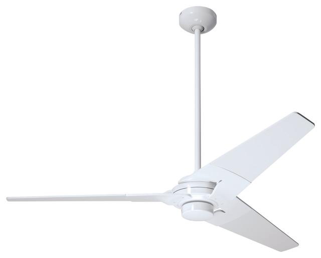 """Modern Fan Company Torsion Gloss White 52"""" Ceiling Fan"""