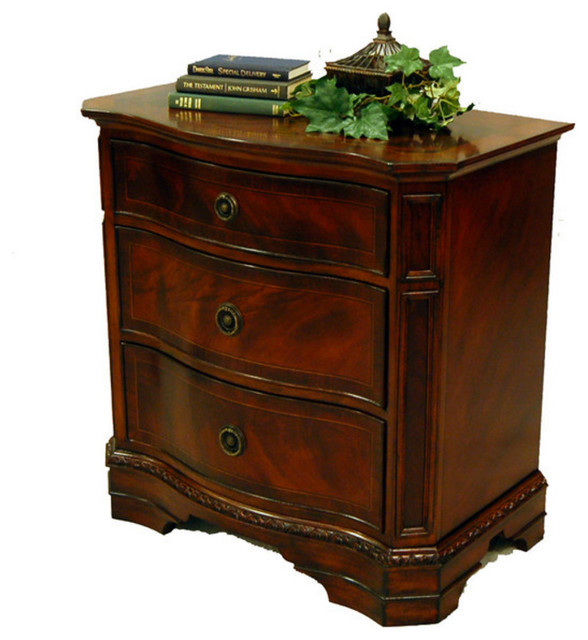 Paloma Mosaic Coffee Table: Heritage Mahogany 3 Drawer Night Stand