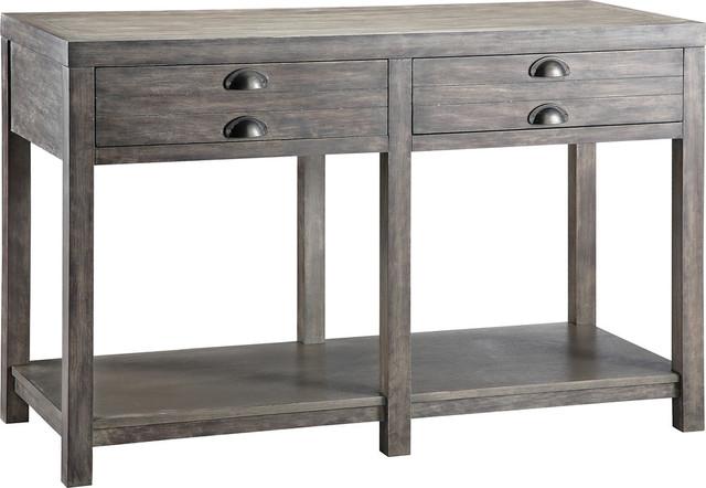 Bridgeport Sofa Table In Grey.