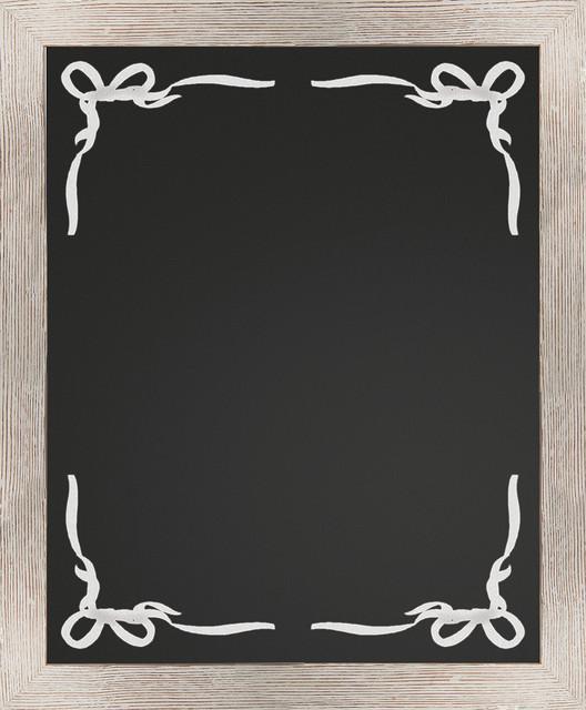 Captivating Border Chalkboard, White