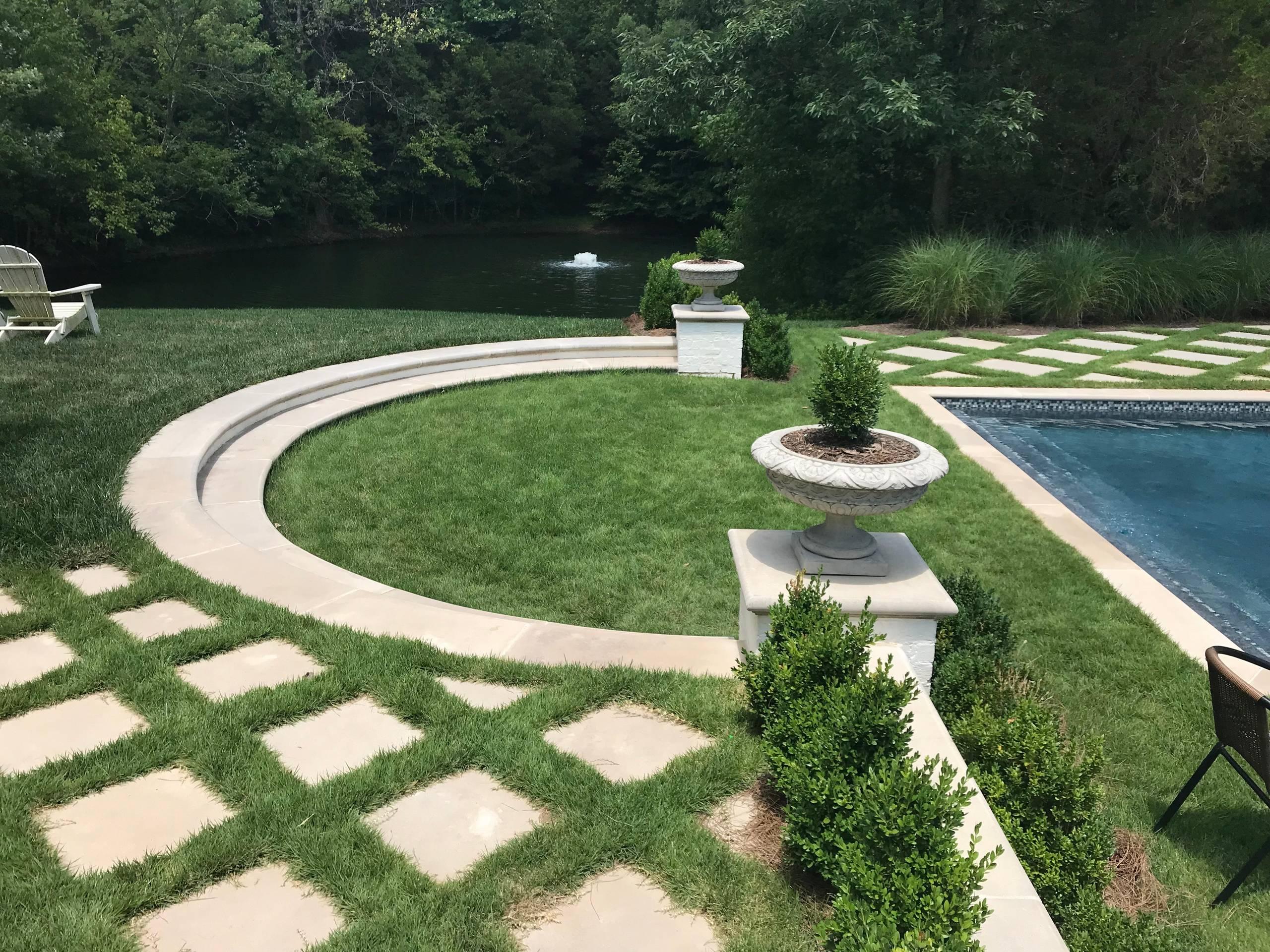Transitional Garden Pool