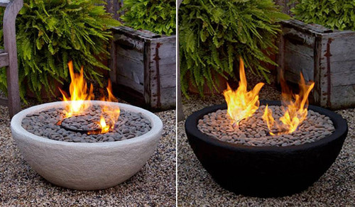 Outdoor Ventless Fire Bowl modern firepits
