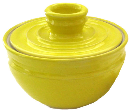 Knock Your Hat In The Creek Yellow Glazed Coffee Filter Storage Jar
