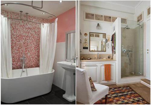Bagno box doccia oppure tenda - Soluzioni doccia finestra ...