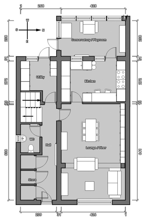Layout extension ideas needed please for Kitchen design 4m x 4m