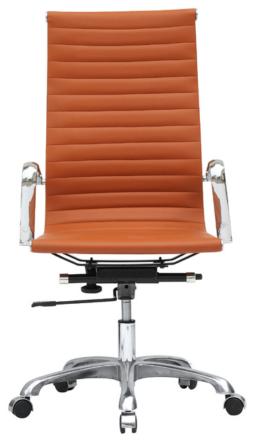 modern office chair high back tan and camel