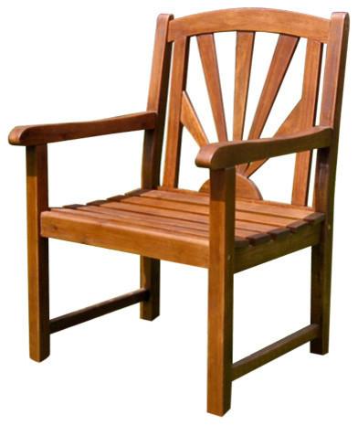 Acacia Sapporo Chair,Brown by International Caravan