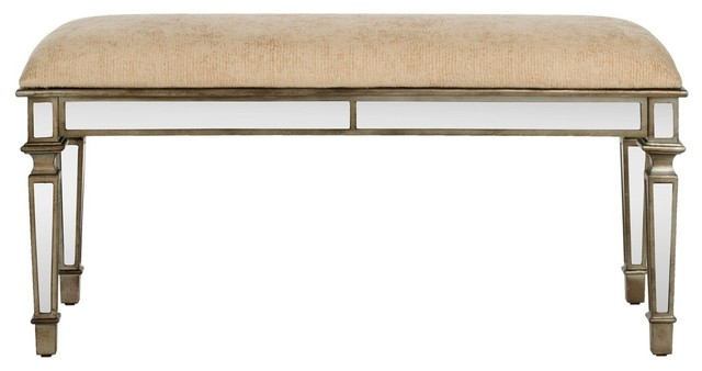 Layla Upholstered Mirror Bench. -1