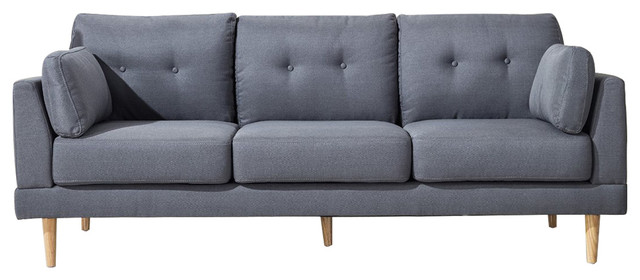 Superbe Plush Sofa, Dark Gray