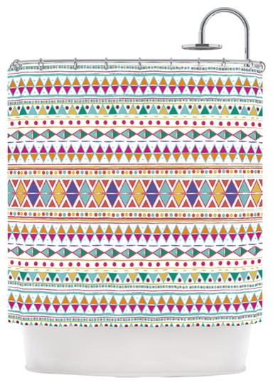 Nika Martinez Native Fiesta Shower Curtain