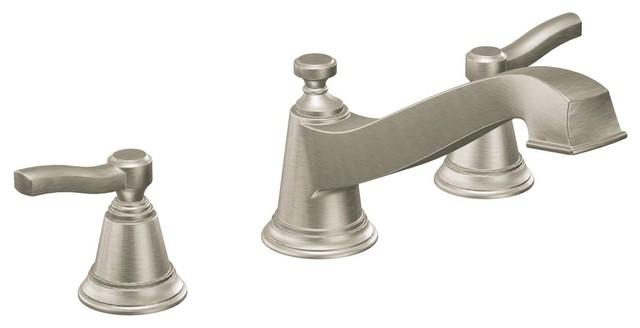 Moen Rothbury 2-Handle Low Arc Roman Tub Faucet, Brushed Nickel by Moen