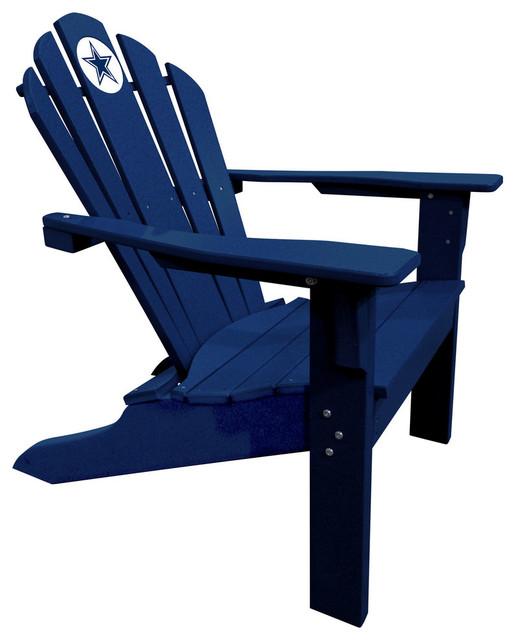 Dallas Cowboys Big Daddy Adirondack Blue Contemporary