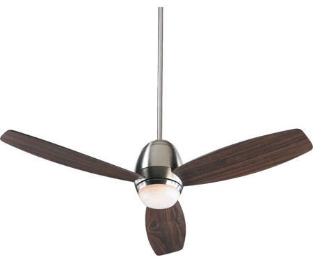 Quorum Bronx 52 Inch 3-Blade Ceiling Fan In Satin Nickel.