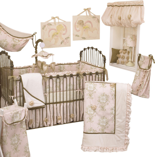 Cotton Tale Designs Lollipops and Roses 8pc Crib Bedding Set