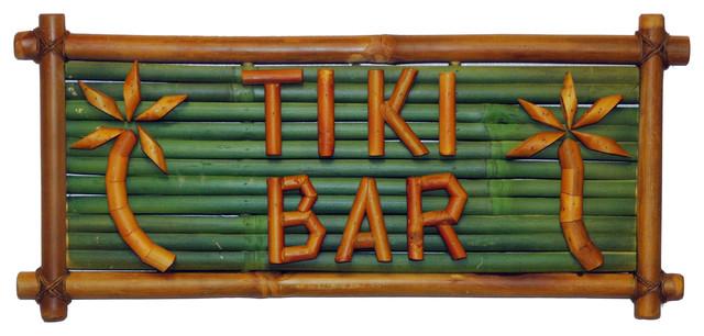 Tiki Bar Bamboo Sign Novelty Signs