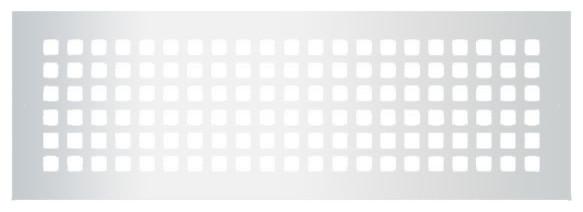 """Steel Grid Pattern Grille, Silver, 6""""x22""""."""