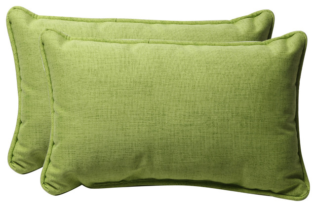 Baja Lime Green Rectangle Throw Pillow, Set of 2 - Contemporary - Outdoor Cushions And Pillows ...