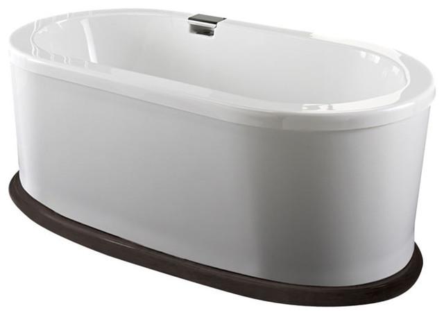 "66""x36"" Ruby Freestanding Acrylic Oval Bathtub, Mass-Air And Activ-Air."