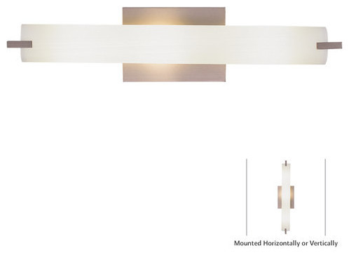 Tubes 21in 3 Light Halogen Bulb Bath Vanity Light in Brushed Nickel w   transitional. Kovacs P5044 248 Tube 3 Light Wall Sconce   Bulbs Included