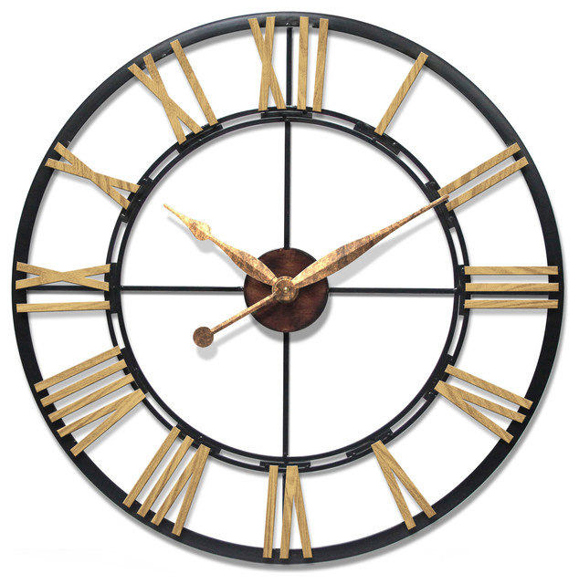 Infinity Instruments Cologne 45 Oversized Large Wall Clock Steel