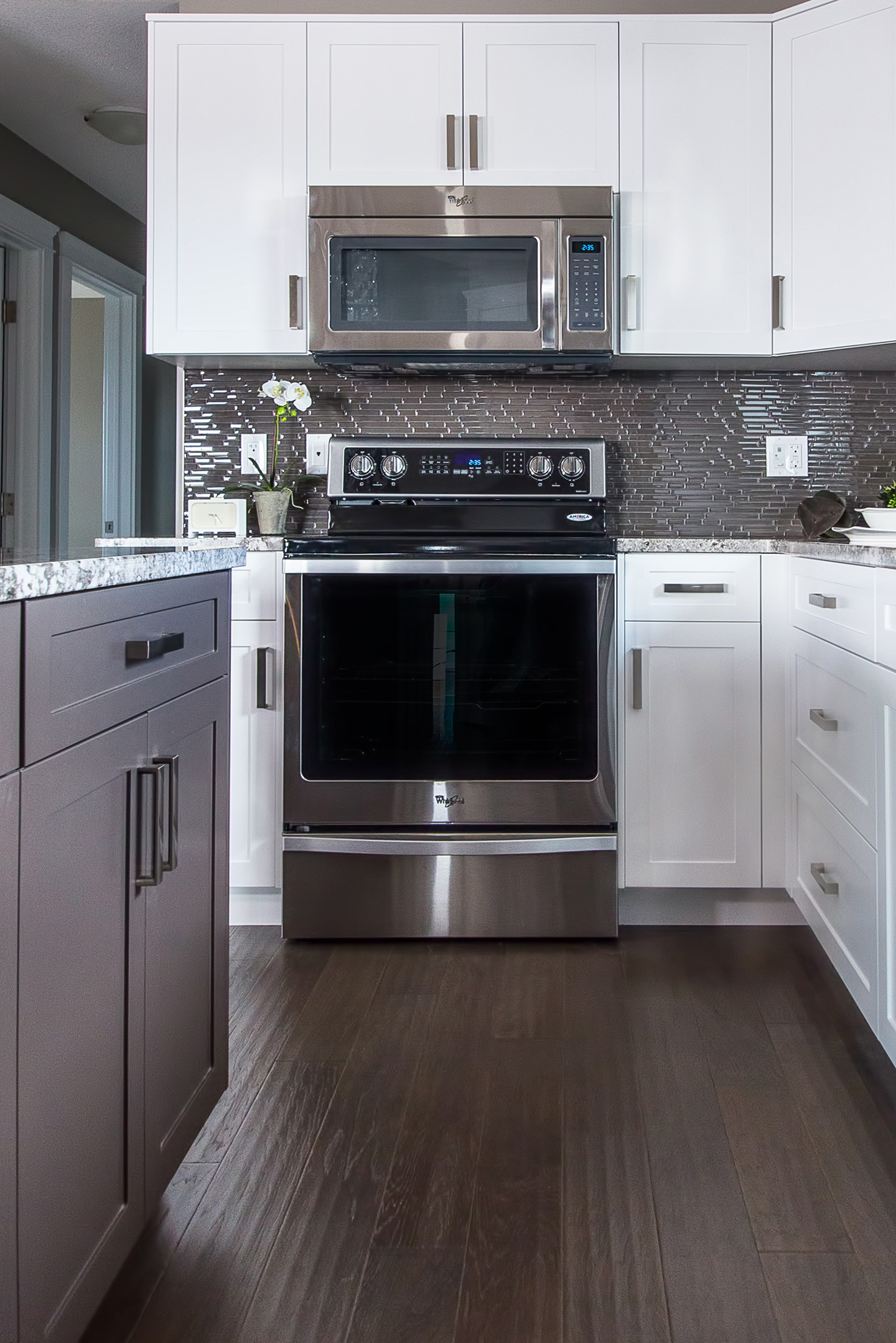 Two Tone Painted & Maple Kitchen By Vinland Homes