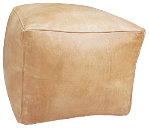 Floor Pillows Leather : Square Moroccan Leather Pouf - Contemporary - Floor Pillows And Poufs - by MPW Plaza llc