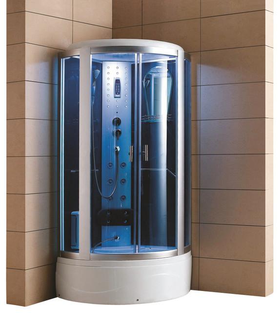 eagle bath 42 inch steam shower enclosure with tub - modern - steam showers