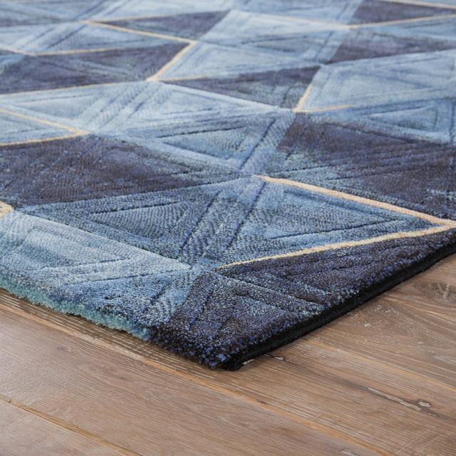 Jaipur Living Miso Geometric Dark Blue/Indigo Area Rug, 2'x3'
