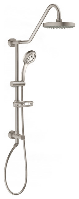Kauai Brass Rain Shower System With Handheld 1 8 Gpm Contemporary Showerheads And Body Sprays By Pulse Showerspas