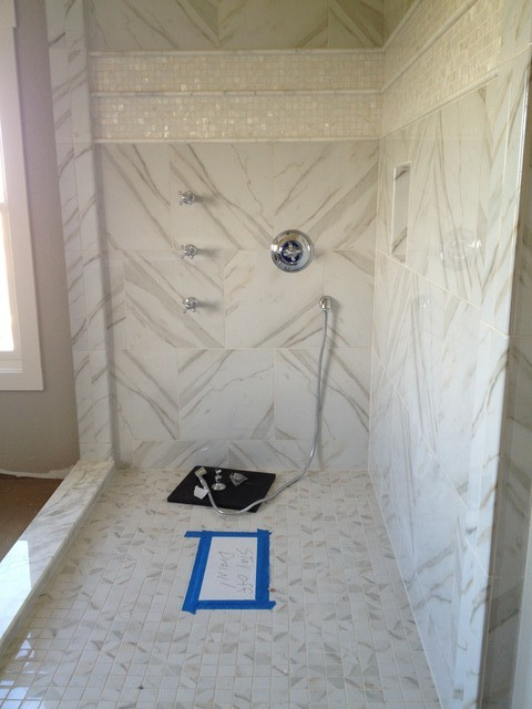 Calacatta Tile From Home Depot Matches Real Slab Perfectly