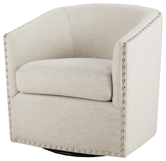 Madison Park Tyler Swivel Chair, Natural Multi.