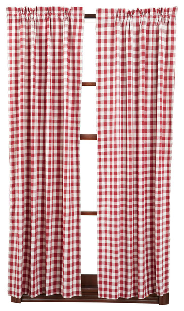 Buffalo Red Check Short Panel, Set Of 2.