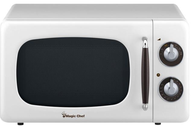 0 7 cu ft 700w retro countertop microwave oven white