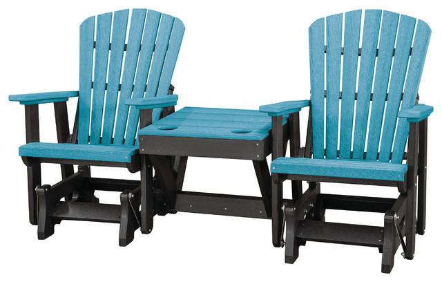 Pleasing Os Home Double Glider Center Table Aruba Blue And Black Short Links Chair Design For Home Short Linksinfo