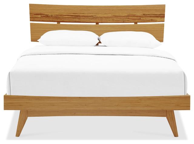 Azara Platform Bed, Caramelized, King.
