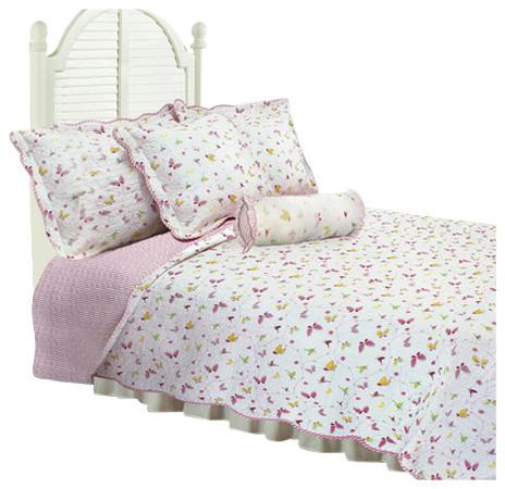 Textiles Plus Inc Textiles Plus Butterfly Dance Quilt Set Quilts And Quilt Sets