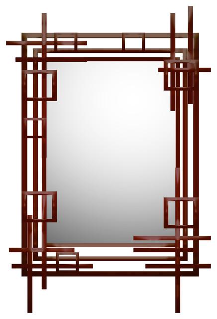 "Industrial Reflection Mirror, 40x60""."