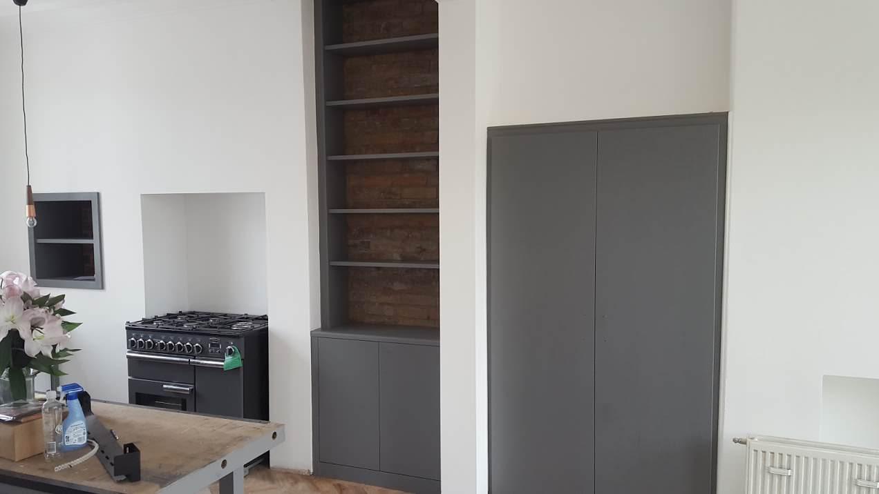 Grey Alcove Storage
