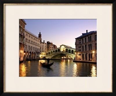 rialto bridge grand canal venice italy framed print by alan copson